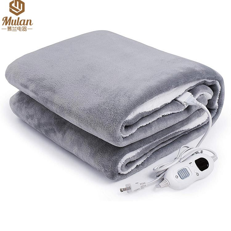 New controller Electric Blanket, Heated Throw Flannel over blanket