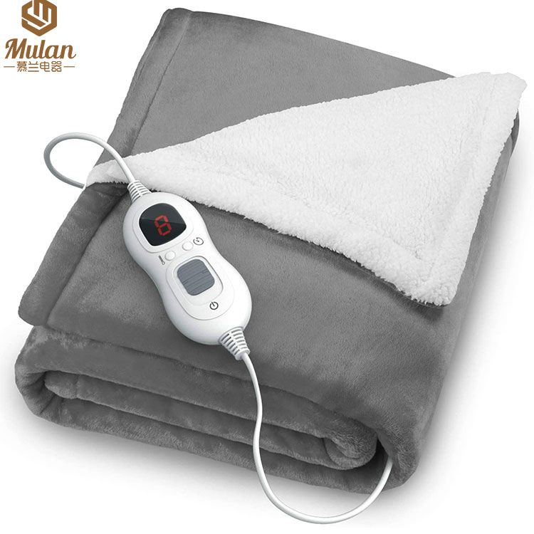 Customized Flannel Electric Blanket, Heated Throw over blanket