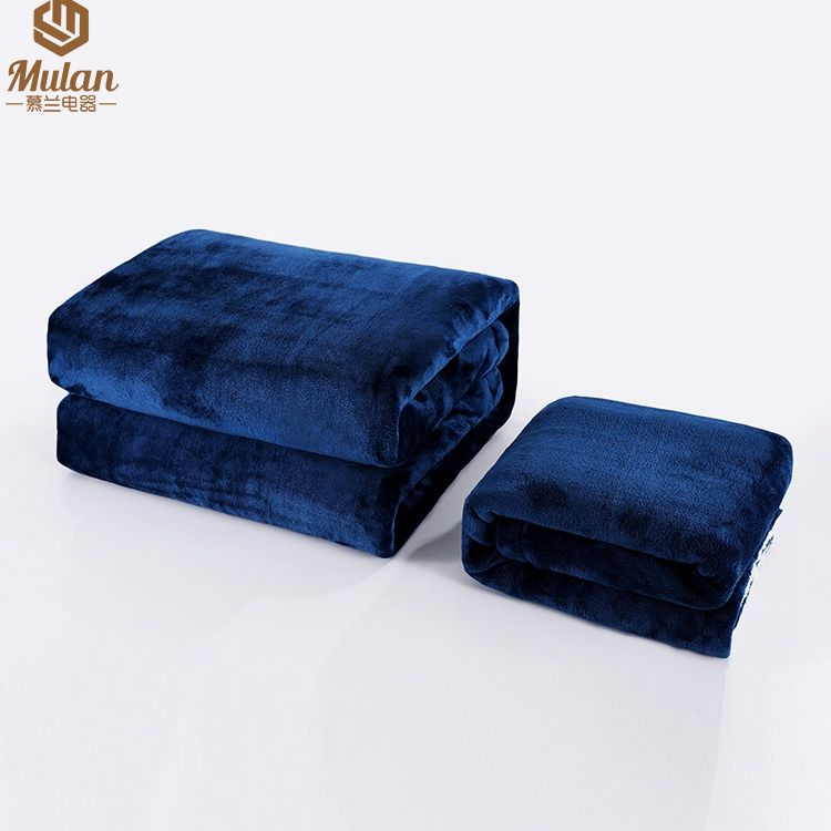 """Flannel Heated Blanket Electric Throw, 50"""" x 60"""" Full Body Size Fast Heating Blankets"""