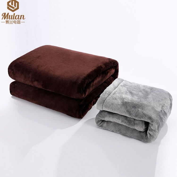 """Electric Blanket Heated Throw with foot pocket 50"""" x 60"""" UL approval"""